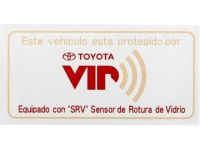 Toyota Sequoia VIP Security System, GBS window label spanish - PT398-42091