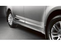 Toyota Sienna Lower Door Molding-Bright Chrome-Right Side-2 Pieces-Service. Body Side Moldings. - PT29A-08100-PS
