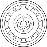 Toyota Yaris Spare Wheel - 42611-0D600