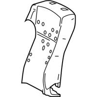 TOYOTA Genuine 71072-0E270-B2 Seat Cushion Cover