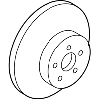 Toyota C-HR Brake Disc - 43512-F4010