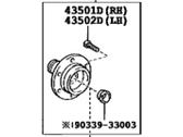 Toyota Wheel Bearing - 43502-60201