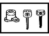Genuine Toyota 69052-AA010 Door Lock Cylinder//Key Set