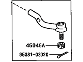 Toyota Tie Rod End - 45470-09040