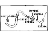 Toyota 22231-28040 Throttle Body Hose