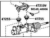 Toyota Highlander Master Cylinder Repair Kit - 47201-48200