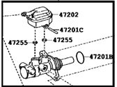 Toyota Highlander Master Cylinder Repair Kit - 47201-48202
