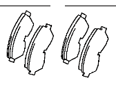 Toyota T100 Brake Pad Set - 04465-35061