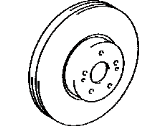 Toyota Corolla Brake Disc - 43512-12710