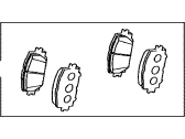 Toyota RAV4 Brake Pad Set - 04465-42160