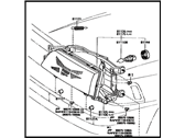 Toyota 81170-03010 Headlamp Unit Assembly