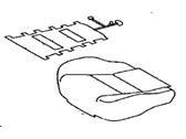 TOYOTA Genuine 71071-42680-B3 Seat Cushion Cover