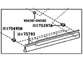 Genuine Toyota 75076-0E050 Door Molding Sub-Assembly