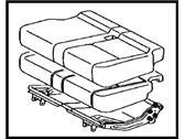 TOYOTA Genuine 71470-0C020-E0 Seat Cushion Assembly