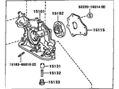 Toyota Tundra Oil Pump - 15100-62050