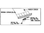 Toyota 67939-08010-B0 Door Garnish Assembly