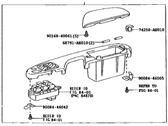 TOYOTA 74230-AE053-E0 Door Armrest Base Panel Assembly
