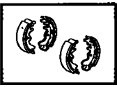 1980 Toyota Tercel Brake Shoe Set - 04495-16010