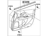 Genuine Toyota 67610-47540-B0 Door Trim Board