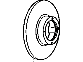Toyota Van Brake Disc - 43512-28051