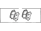 Toyota Corolla Brake Pad Set - 04465-02050