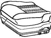 Interior Genuine Hyundai 89043-0W500-HZ Second Row Seat Cushion Cover Right