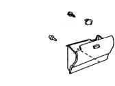 Toyota Genuine 55550-47060-C1 Glove Box Door Assembly