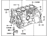 Toyota 11401-09601 BLOCK SUB-ASSEMBLY, CYLINDER