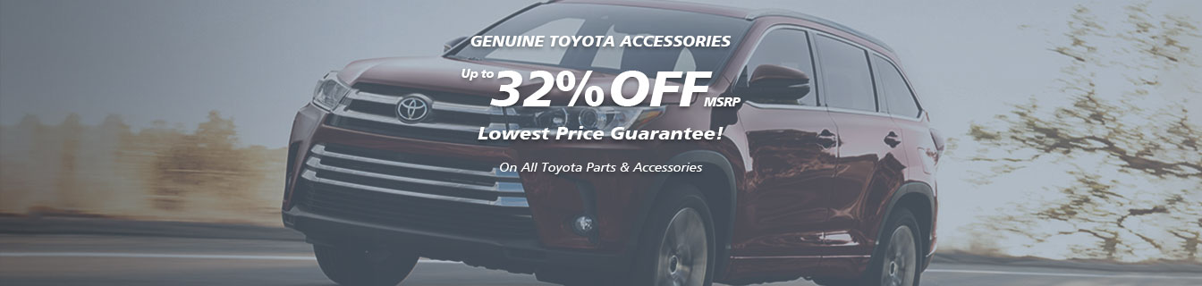 Genuine Toyota accessories, Guaranteed lowest prices