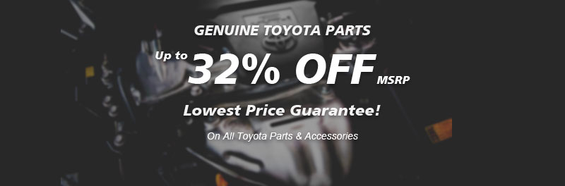 Genuine Toyota parts, Guaranteed low price